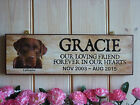 PERSONALISED LABRADOR SIGN IN MEMORY SIGN LABRADOR MEMORIAL AT REST DOG PLAQUE