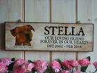 PET IN MEMORY SIGN STAFFORDSHIRE BULL TERRIER MEMORIAL PLAQUE HANDMADE IN MEMORY