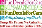 Custom YouTube Text Vinyl Decal Music Video Page Advertise Car Window Sticker