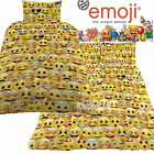 Official Emoji Icons Single / Double Panel Duvet Cover Bed Set New Gift Smiley