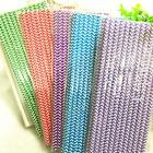 25-100pcs Wave Paper Drinking Straws Birthday-Wedding-Garden Party