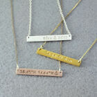 Custom Name Necklace Bar Necklace Coordinates Necklace Roman Numeral Necklace