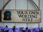 PERSONALISED LABRADOODLE SIGN YOUR OWN WORDING LABRADOODLE GIFT PRESENT PLAQUE