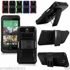 Outer Box Case Cover For HTC Desire 610 w/Belt Clip Holster & Stand Hybrid
