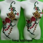 Rose Flower Floral Collar Sew Patch Cute Applique Badge Embroidered Bust Dress.