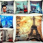 London bridge, Eiffel tower Paris, Skyline Printed / Photograph Cushion Covers