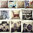 Cotton Club NYC, Elephant Trail, Wolf, Stag Printed / Photograph Cushion Covers