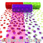 6'' x 10 yards Tulle Glitter Roll Spool Polka Dots Tutu Wedding Party Gift Craft