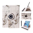 360 Rotating PU Leather Smart Case Cover Stand For Apple iPad 2 3 4/Air/Mini/Pro