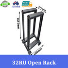 "32RU 32U 19"" 19 INCH OPEN RACK DATA RACK SERVER CABINET"