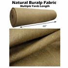 "NATURAL BURLAP PREMIUM VINTAGE JUTE FABRIC 60 "" WIDE UPHOLSTERY 10 OZ BY YARD"