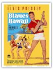 Elvis Presley in Blaues Blue HAWAII Goetze 1961 Vintage Film Movie Poster Print