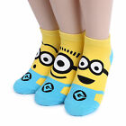 Minions Costume Socks Women Kids Funny Halloween Monster Cartoon Fashion CT13