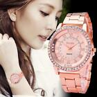 Women's Fashion Crystal Quartz Watch Stainless Steel Analog Wrist Watch Bracelet