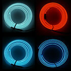 1/2/3M LED Soft Flash Flexible Neon Light Glow EL Strip Tube Wire Rope Car Decor