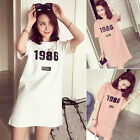 New Fashion Women's Slim Cotton Tops Short Sleeve Casual Dress  Blouse