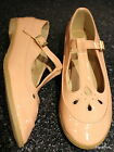 Pastel Pink Patent T-Bar Geek Shoes Flats Dolcis Size 4 5 6 7