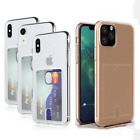 Plain Gel Credit Card Holder Soft Back Protective Case Cover For iPhone 8 7 Plus