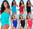 UK Plus Size Womens Swimwear One Piece Monokini Swimsuit Bikini Bathing Suit