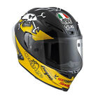 AGV Corsa GUY MARTIN Motorcycle Helmet Track Race Street Road Black Yellow 1698