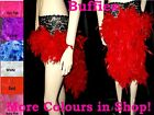 Burlesque Feather Mini Bustle skirt Moulin Rouge Showgirl 6-18 Loads of Colours!