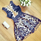 Summer Women Lady Sexy Lace Floral Casual Short Cocktail Party Mini Dress NEW