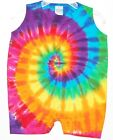 Baby TIE DYE Rainbow PinWheel Tank Top Romper hippie infants 6 12 18 24 month