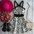 Sexy Women Casual Sleeveless Chiffon Party Evening Cocktail Mini Floral Dress
