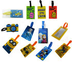 Novelty Fun Character Luggage Suitcase Travel Bag Tags Name Address Label ID Tag