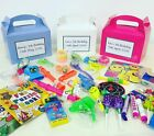 PERSONALISED CHILDRENS KIDS PARTY BIRTHDAY BOXES WITH FAVOURS
