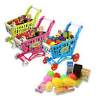 Mini Shopping Cart with Fruit Food Box Toy Fun Prentend Play Playset for Kids