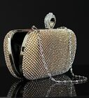 Dazzling Gold Crystal Diamond Evening Clutch Purse  for Wedding & Partys