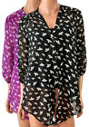 New BHS Floral 2 in 1 Blouse with Cami Purple or Black Plus Size 16 18 FREEPOST