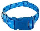 Country Brook Petz® Blue Bone Camo Dog Collar with Blue Buckle