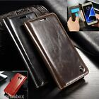 DESIGNER GENUINE LEATHER RETRO WALLET STAND CASE COVER LG G4 G5 LG G6
