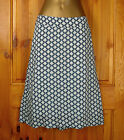 NEW WHITE STUFF LADIES GREEN GEOMETRIC SNOWFLAKE PRINT SUMMER SKIRT UK SIZE 8-14