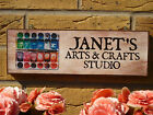 PERSONALISED SHED SIGN SUMMERHOUSE SIGN ART SUPPLIES BRUSHES CANVAS EASELS OILS