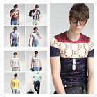 Kyпить New Fashion Men's Print Short Sleeve T-Shirts Casual Slim Fit Summer Graphic Tee на еВаy.соm