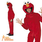 Adult Sesame Street Elmo Costume Mens TV Character Fancy Dress Outfit New