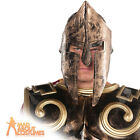 Adult Roman Spartan Helmet Mens Gladiator Centurion Fancy Dress Accessory New