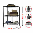3/4/5 Tier Layer Shelving Unit Steel Wire Metal Rack Adjustable Shelf Storage BK