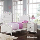 WHITE French Provincial TIMBER GIRLS Bedroom SET HARD WOOD BED KING SINGLE PINK
