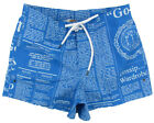 "JOHN GALLIANO ""Newspaper 1O"" oumo costume mare bermuda shorts (blu/bianco) NUOVE"
