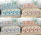 Complete Duvet cover Set with Valance Sheet, 4 Pcs Roses Single, Double King,