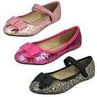 Girls Cutie Glitter Velcro Casual Dolly Shoes The Style-H2376