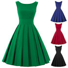Womens Plus Size Swing Vintage Housewife Pin Up Dress Picnic Causal Cocktail NEW