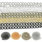 "1/5/10pcs 50cm/20"" DIY Iron Curb Chain Fit Necklace Jewellery 5 Colour 3/4.5mm"