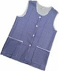 1 Ladies Check Sleeveless Tabard Apron Work Overall / Elaine / Navy / All Sizes