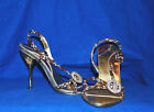 Love It! Rhinestone Bling*Intricate Heel Design* Strappy Sandals GOLD