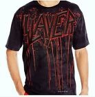 Slayer T-shirt Raining Blood Tie-Dye metal rock Liquid Blue Official L XL 2X NWT